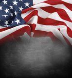 Flag on blackboard Stock Images