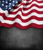 Flag on blackboard Stock Photography