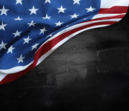 Flag on blackboard Royalty Free Stock Photo