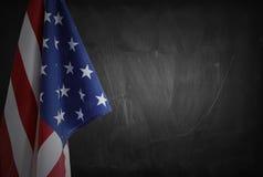Flag on blackboard Stock Photo