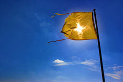 Flag On A Blue Sky Royalty Free Stock Images