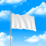 Flag On The Blue Sky Royalty Free Stock Photography