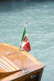 Flag on the boat Royalty Free Stock Image