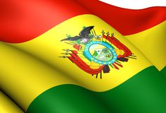 Flag of Bolivia Stock Photo