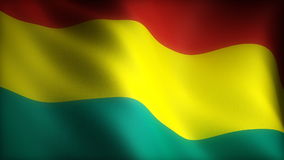 Flag of Bolivia stock video footage