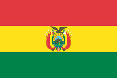 Flag of bolivia Stock Images