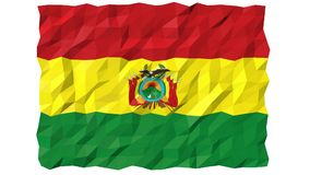 Flag of Bolivia 3D Wallpaper Animation stock footage