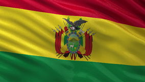 Flag of Bolivia seamless loop Stock Photography