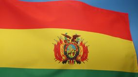 Flag of Bolivia - South America stock video footage