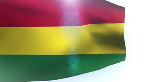 Flag of Bolivia waving in the wind wave. Video stock video