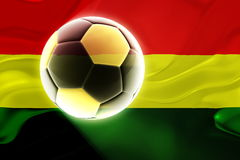 Flag of Bolivia wavy soccer Royalty Free Stock Images