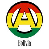 Flag of Bolivia of the world in the form of a sign of anarchy royalty free illustration
