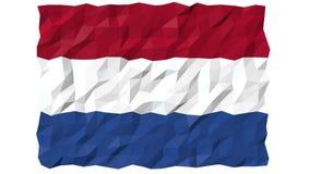 Flag of Bonaire, Sint Eustatius and Saba 3D Wallpaper Animation stock footage