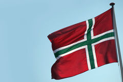 The flag of Bornholm - a Danish island Stock Photo