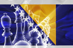 Flag of Bosnia Hertzigovina wavy business strategy Stock Photos