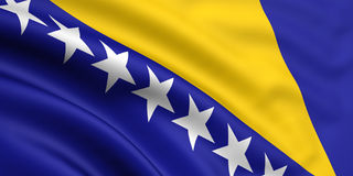 Flag Of Bosnia and Herzegovina Stock Images