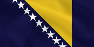 Flag of Bosnia and Herzegovina Royalty Free Stock Photo