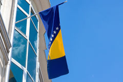 Flag of Bosnia and Herzegovina Royalty Free Stock Photography