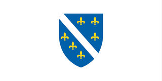 Flag of Bosnia Herzegovina Royalty Free Stock Photo