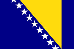 Flag of Bosnia and Herzegovina country. Royalty Free Stock Photography
