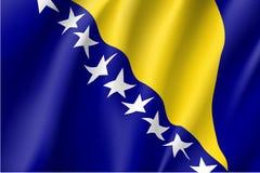 Flag of Bosnia and Herzegovina country. Stock Photo