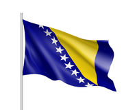 Flag of Bosnia and Herzegovina country. Royalty Free Stock Images