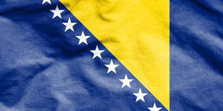 Flag of Bosnia and Herzegovina. Royalty Free Stock Image