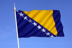 Flag of Bosnia and Herzegovina - Europe Royalty Free Stock Images