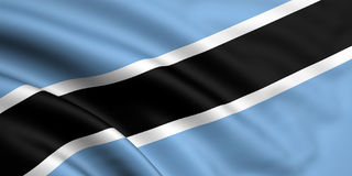 Flag Of Botswana Stock Image
