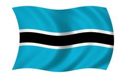 Flag of Botswana. Waving flag of Botswana Vector Illustration