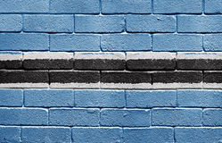 Flag of Botswana on brick wall Royalty Free Stock Photography