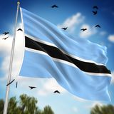 Flag of Botswana. This is a computer generated and 3d rendered image Royalty Free Stock Images