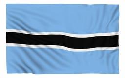 Flag of Botswana. Isolated on white Stock Photography