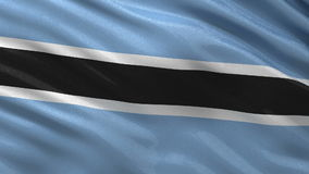 Flag of Botswana seamless loop Royalty Free Stock Photography