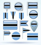 Flag of Botswana, vector illustration. Stock Photography