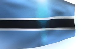 Flag of Botswana waving in the wind wave. Video stock footage