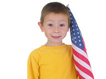 Flag Boy Royalty Free Stock Photo