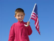 Flag Boy Royalty Free Stock Image