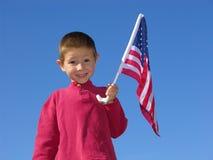 Flag Boy Royalty Free Stock Image