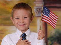 Flag Boy 6 royalty free stock photo