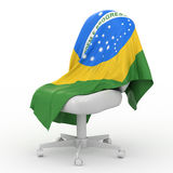 Flag of Brasilia. Stock Photography