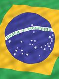 Flag of Brazil. National flag of Brazil Stock Photos