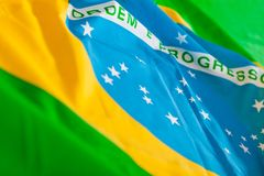 Flag from Brazil Royalty Free Stock Photography