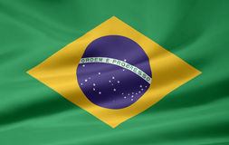 Flag of Brazil. A very large version of an brazilian flag Royalty Free Stock Image