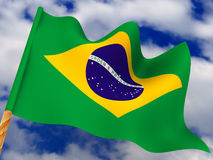 Flag. Brazil Stock Photo
