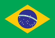 Flag of Brazil. Illustration