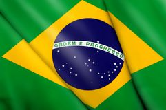 Flag of Brazil. This is an illustration of folded flag Royalty Free Stock Image