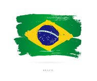 Flag of Brazil. Abstract concept Stock Images