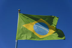 Flag of Brazil Stock Photography