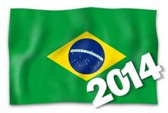 2014 flag. 2014 brazil flag creative fresh design Stock Images